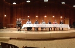 Composers panel discussion, Danish Royal Academy of Music, Copenhagen.